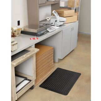 "Flex Step Anti-Fatigue Recycled Rubber Podiatric Mat 24"" x 36"", W60173"