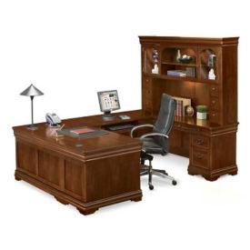 """Right Return U-Desk with Hutch - 110"""" D x 72"""" W, D35151"""