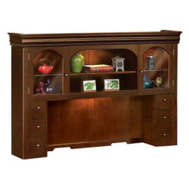 "Traditional Lighted Hutch - 71-3/4"" W, D30140"