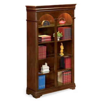 "Ten Shelf Traditional Double Bookcase - 78"" H, D30142"