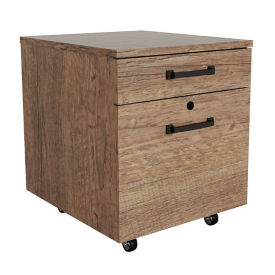 "18""W Two Drawer Mobile File Pedestal, L40031"