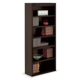 "Six Shelf Open Bookcase - 78""H, B34520"