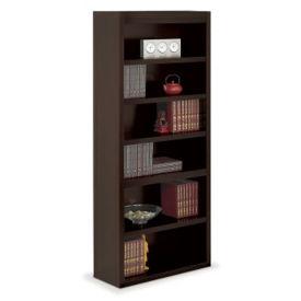 "Six Shelf Open Bookcase - 78""H, B34520"