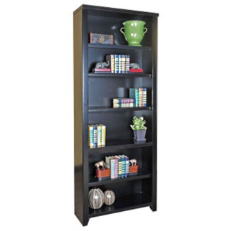 "Six Shelf Open Bookcase - 84""H, B34522"
