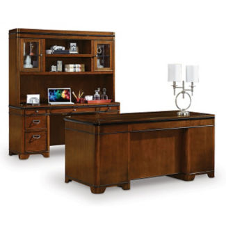 Kensington Desk Credenza and Hutch Set, D30046