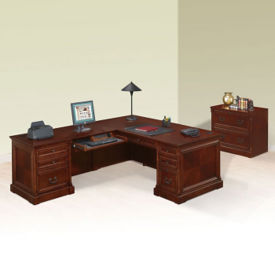 Left Return L-Desk with Lateral File, D35278
