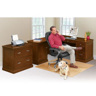 Compact Left L-Desk with Lateral File, D35298