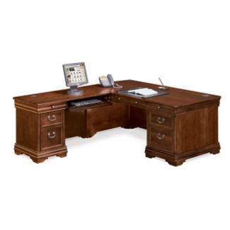 "Left Return L-Desk - 85"" D x 72"" W, D30162"