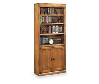 "72"" Doored Oak Bookcase, D30121"