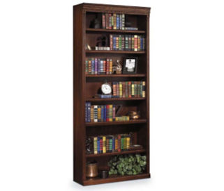 "84"" Seven Shelf Burnish Bookcase, B30388"