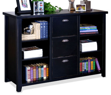 "Three Drawer File and Bookcase - 60"" W, B32102"