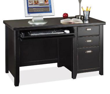 """Compact Single Pedestal Desk - 24-1/4"""" D x 52"""" W, D35059"""