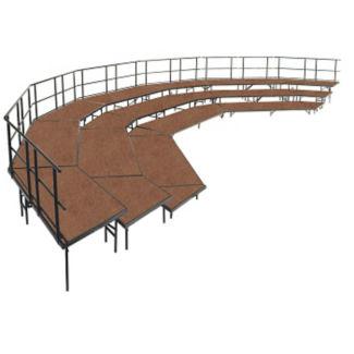 Three Level Hardboard Seat Riser - 32 ft x 20 ft, T20019