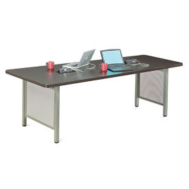 "At Work Angled Media Table - 96""W, T10210"