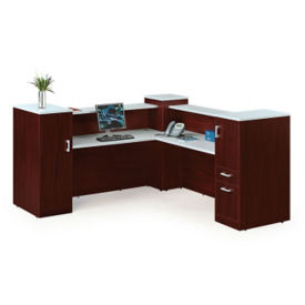 "Tower Reception Desk - 84""D x 87""W, D35679"