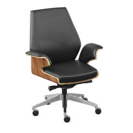 Modern Conference Chair with Bent Plywood Frame, C80429