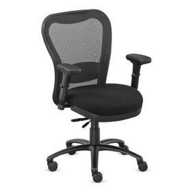 Mesh Back Fabric Seat 24/7 Big and Tall Chair , C80434