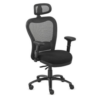 Mesh Back Fabric Seat Chair with Headrest, C80436