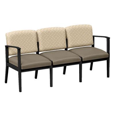 Compare Fabric And Polyurethane Three Seat Sofa, W60857