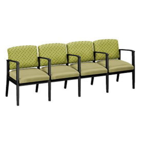 Fabric and Polyurethane Four Seat Sofa with Center Arms, W60860