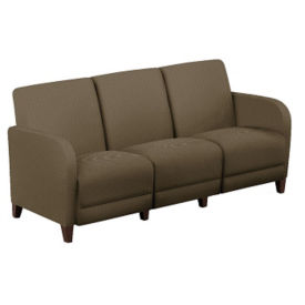 "Parkside Faux Leather or Patterned Fabric Sofa - 69.5""W, W60961"