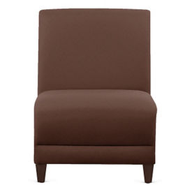 "Parkside Leather Armless Guest Chair - 31""W, W60974"