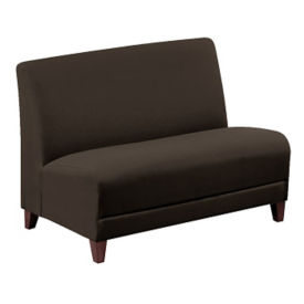 "Parkside Leather Armless Loveseat - 44""W, W60981"