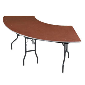 "Serpentine Plywood Table - 30"" x 60"", T11800"