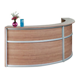 "Compass Laminate Double Reception Desk - 123""W x 48""D, D30292"