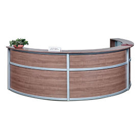 "Compass Laminate Triple Reception Desk - 142""W x 72""D, D30294"