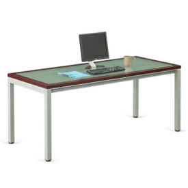 "Glass Top Desk 30""D x 72""W , D35704"