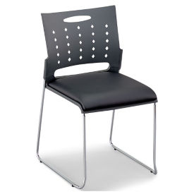 Plastic Stack Chair with Padded Seat, C60232