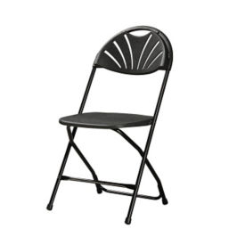 Plastic Fan Back Folding Chair with Metal Frame, C50031
