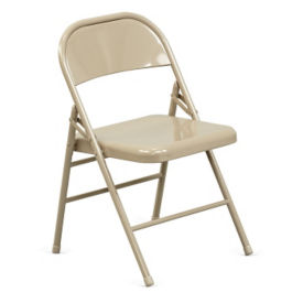 Triple Brace Steel Folding Chair, C57789