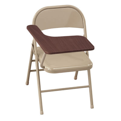 compare steel folding chair with tablet arm c57793