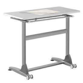 "Standing Height Tilt-Top Table - 36""W, T10056"