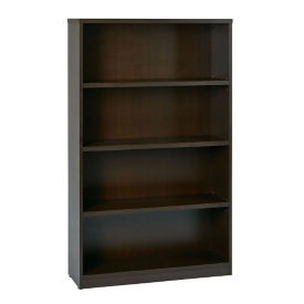 "Four Shelf Laminate Bookcase - 60""H, B32230"