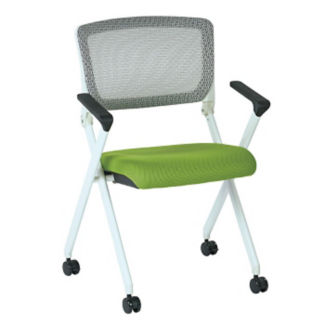 Mesh Back White Frame Nesting Chair, C57788