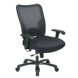 Big and Tall Chair with Mesh Back and Fabric Seat, C80199