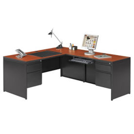 Steel L Desk with Right Return, D30353