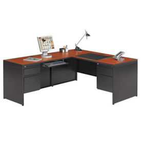 Steel L Desk with Left Return, D30352