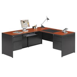 Steel L Desk with Left Return, D30352