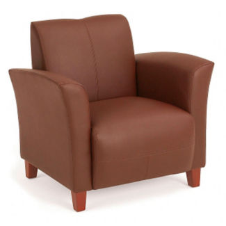 Flare Faux Leather Arm Chair, C80262