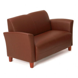 Flare Faux Leather Loveseat, C80263