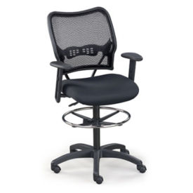 Mesh Back Drafting Stool, W60442