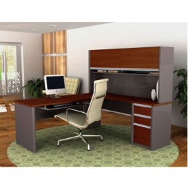 L Desk with Hutch, D35185