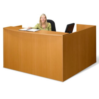 "Reception L-Desk - 71"" x 72"", W60489"
