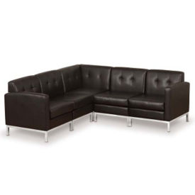 Faux Leather Corner Sofa, W60520