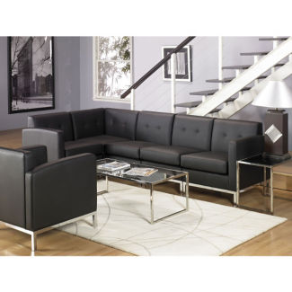 Faux Leather L-Sofa, W60704