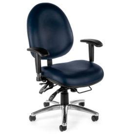 Vinyl Heavy-Duty Big & Tall 24 Hour Ergonomic Chair, C80321